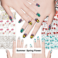 New Arrive Water Transfer Nail Art Sticker Flower Design Full Cover Art Stickers Nail Tips Decorations
