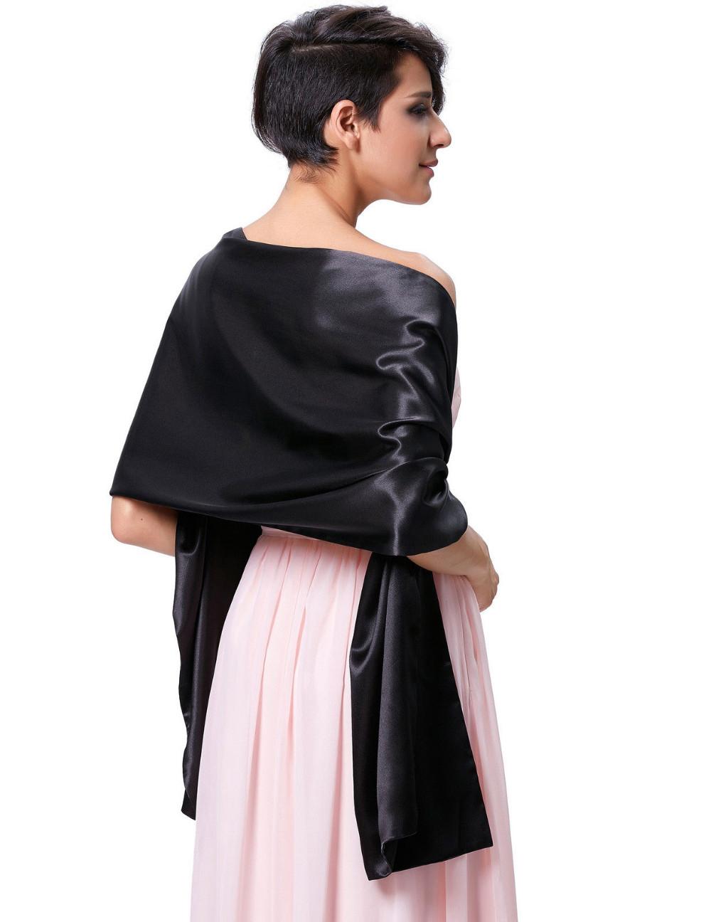 100% Soft Satin Bridal Wraps Evening Dress Shawl Scarf for Wedding ...