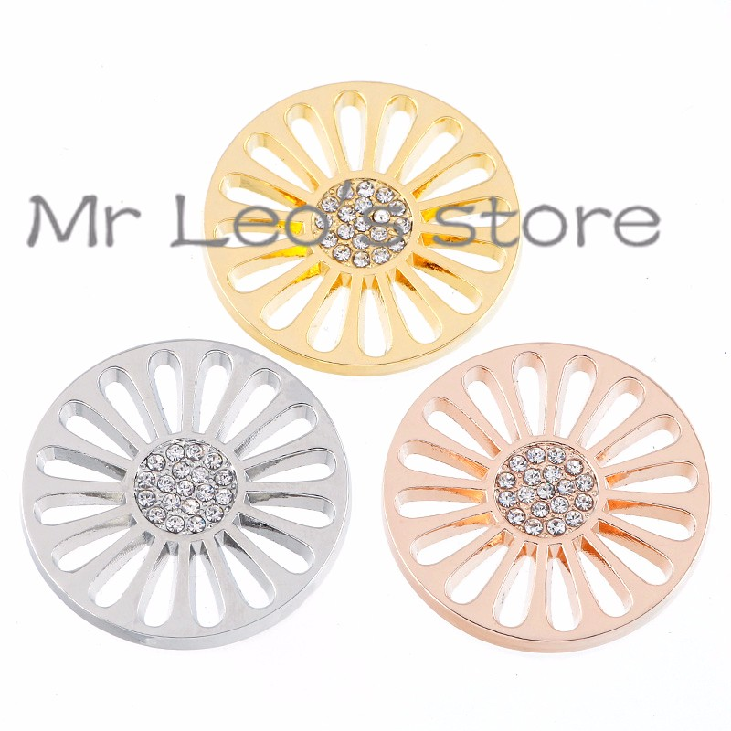 ⓪Keamsty 33mm Large Beautiful Sun Flower Disc Coin for 35mm Holder ... b88d25bb2ea0