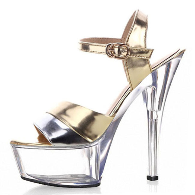 Inventive Ultrafine 15cm High-heeled Shoes Sandals White Wedding Shoes Platform Steel Pipe Dance Shoes 6 Inch Sexy Shoes Office & School Supplies