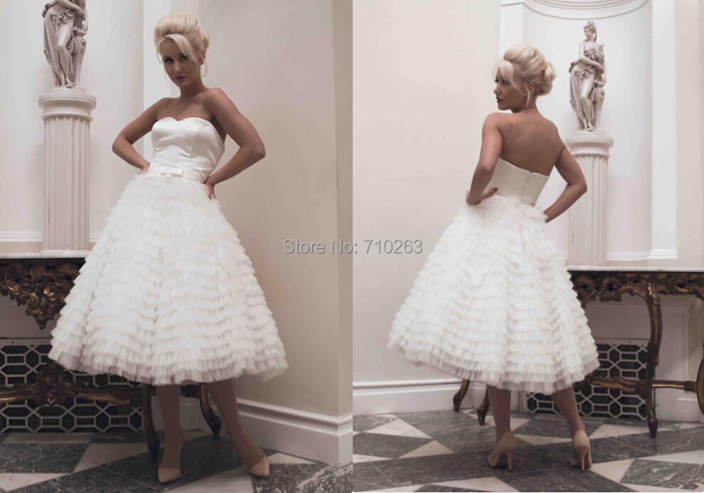 Tea Length Informal Wedding Dresses Promotion-Shop For