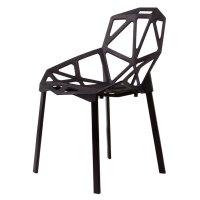 Excellent modern minimalist wooden hollow plastic chair ...