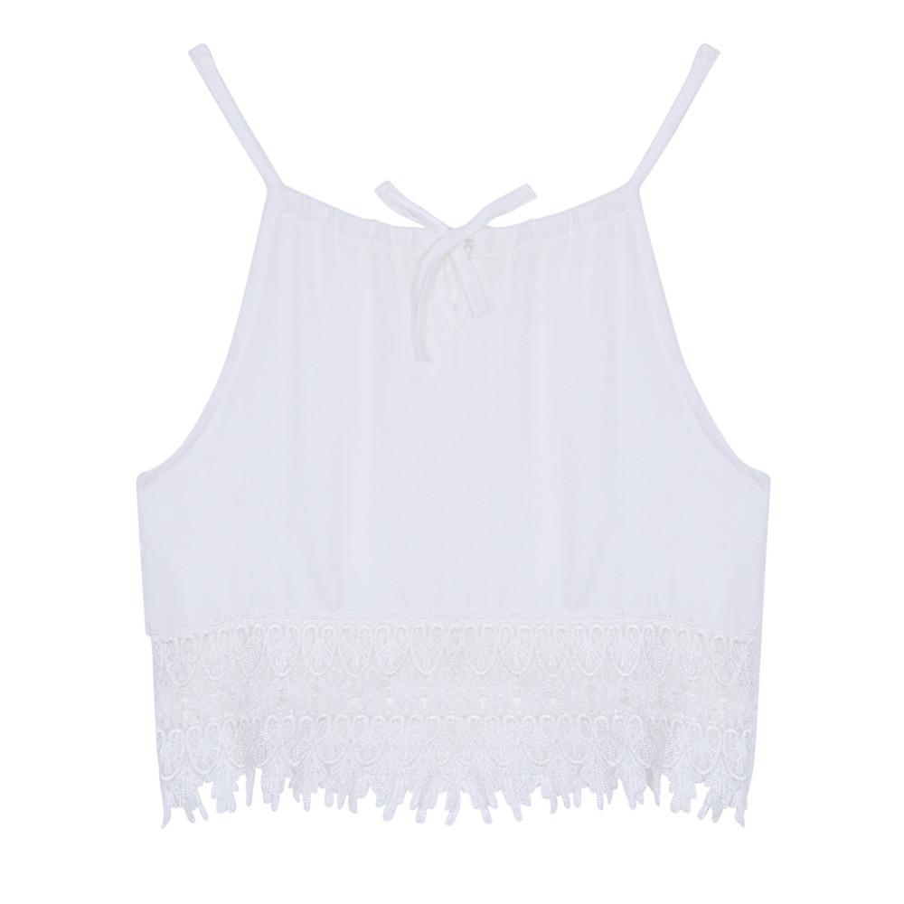 L M Tops Mujer Sin S4 Nºmoda Encaje Verano Xl Mangas Camiseta S ORzSqT