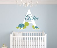 Personalized Turtles Name Wall Decal Art Room Nursery Wall ...