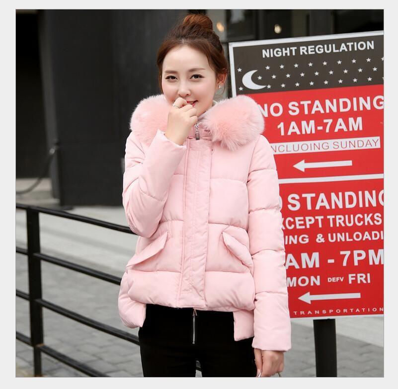 aab420488b5 ... 2017 Горячая Продажа утолщаются теплые женские зимние куртка средней  длины плюс размер мода с капюшоном Женский Парка хлопковая вата пальто  ZL519USD ...