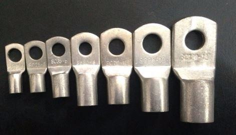 10mm trou-fit câble de 35mm Ouvert fin anneau de cuivre étamés terminal connecteurs