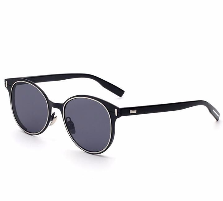 New lunettes de soleil rondes femmes steampunk punk lunettes coloré de mode  réel marque lunettes de soleil cat eye de sol gafas de sol mujer 7c0e574bd8ce