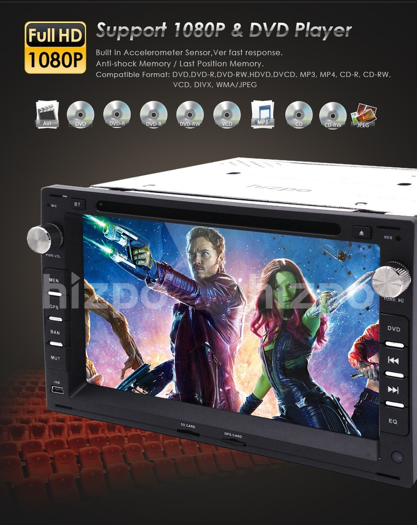 Double 2din 7 inch in dash car stereo dvd player radio for for Mueble 2 din seat leon 1m