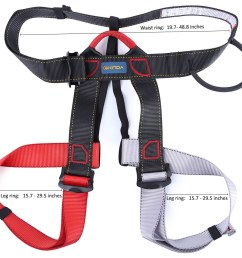 outdoor climbing rock safety belt equipment wiring harness descent in rope double belt with bag for the transportation security [ 1000 x 949 Pixel ]
