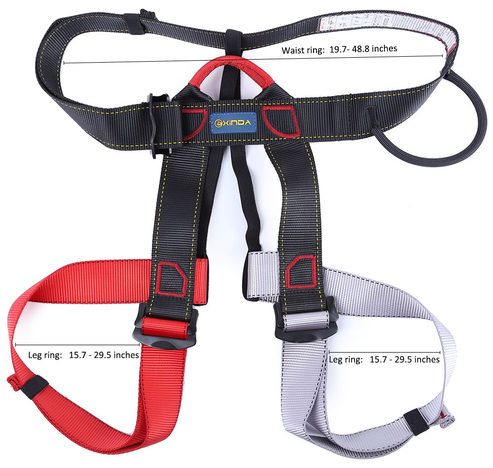 hight resolution of outdoor climbing rock safety belt equipment wiring harness descent in rope double belt with bag for the transportation security