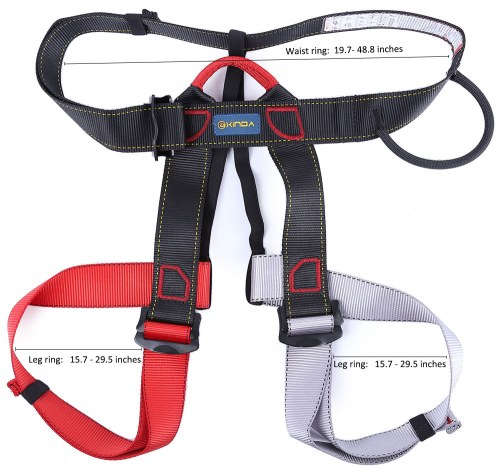 small resolution of outdoor climbing rock safety belt equipment wiring harness descent in rope double belt with bag for the transportation security