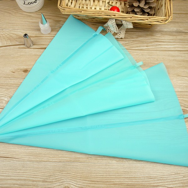 5pcs Lot Reusable Silicone Icing Piping Cream Pastry Bag