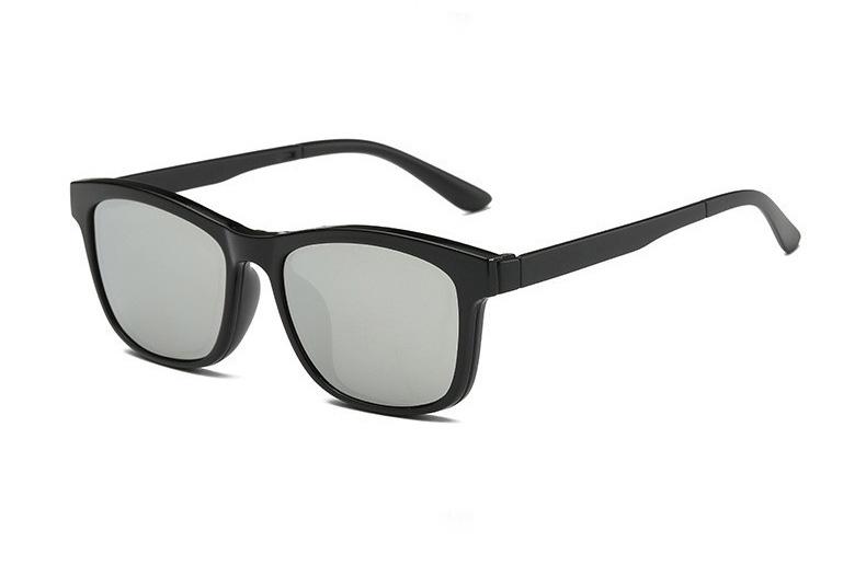2017 Nouveau KisSun lunettes de Soleil Hommes Marque Designer Polarisées  Mâle Magnétique Clip lunettes de Soleil Myopie TR90 Cadre En Verre Lunettes c9681b8acd5c