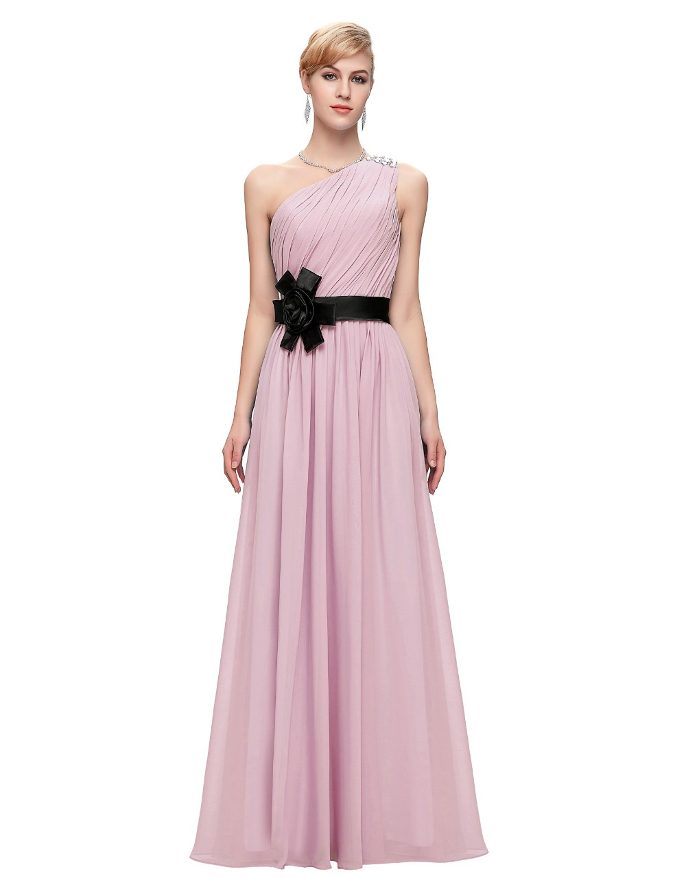 ᐅCheap long Bridesmaid Dresses Purple Pink Yellow Wedding dress ...