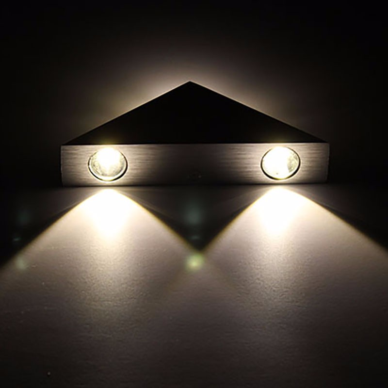56ffedcd5 №Alto Brilho 3 W Triângulo de Alumínio Led Lâmpada de Parede ...