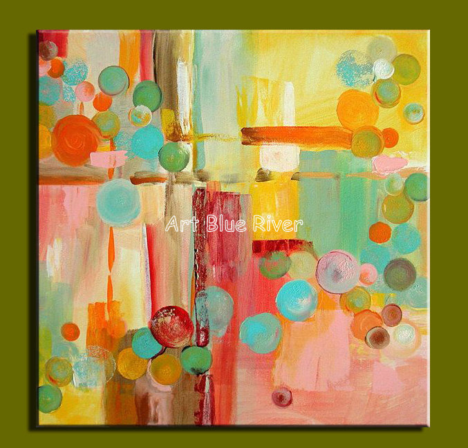 Abstract modern canvas wall art handmade Colorful picture