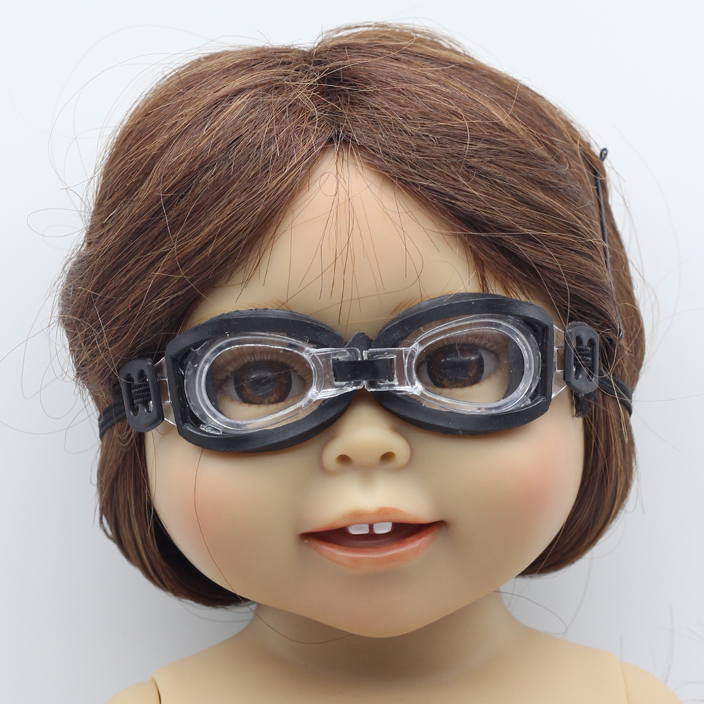3c3a9e9b88b978 Noir lunettes De Natation Porter pour 18 American Girl Poupée fit 1 3 1 6  BJD Blythe poupées