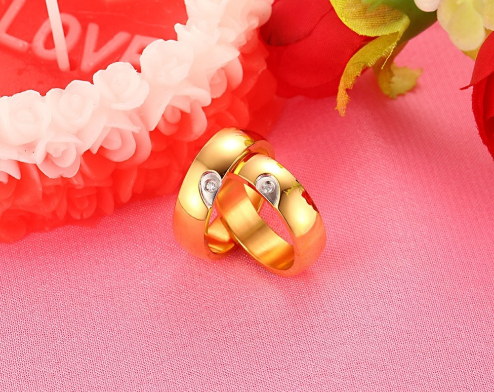 ①Jewelry Anillos 6mm Heart Style Rings For Jewelry New Fashion ...