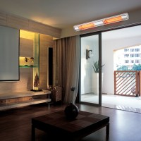 2x2000W IP65 Heater Wall Mounted Patio Radiant Electric ...