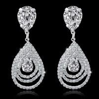 2015 Fashion Circle Crystal Rinestone Earrings Big Silver ...