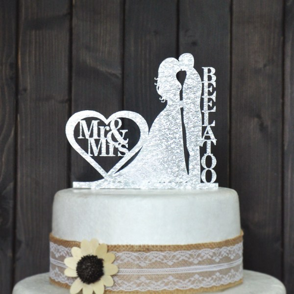 Personalized Wedding Cake Topper Decoration