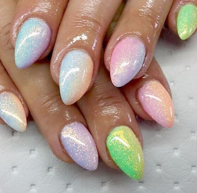 웃 유New Nail Art Giltter Mermaid Effect Chrome Pigment Powder 10g ...