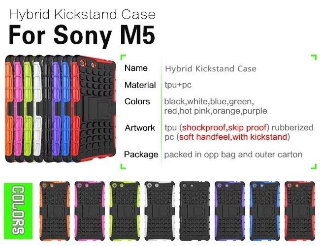 b7dfd873742 ᗚWekays para Sony Xperia M5 caso dual e5633 e5603 resistente ...