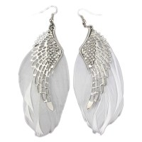Charming Jewelry Retro Angel Wings Feather Shaped Simple ...