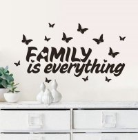 Family is Everything Quote Wall Stickers Home Decor ...