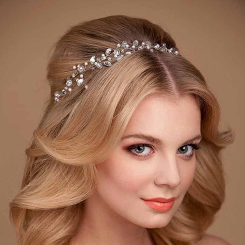 Hair Jewelry For A Wedding Handmade Rhinestone Wedding