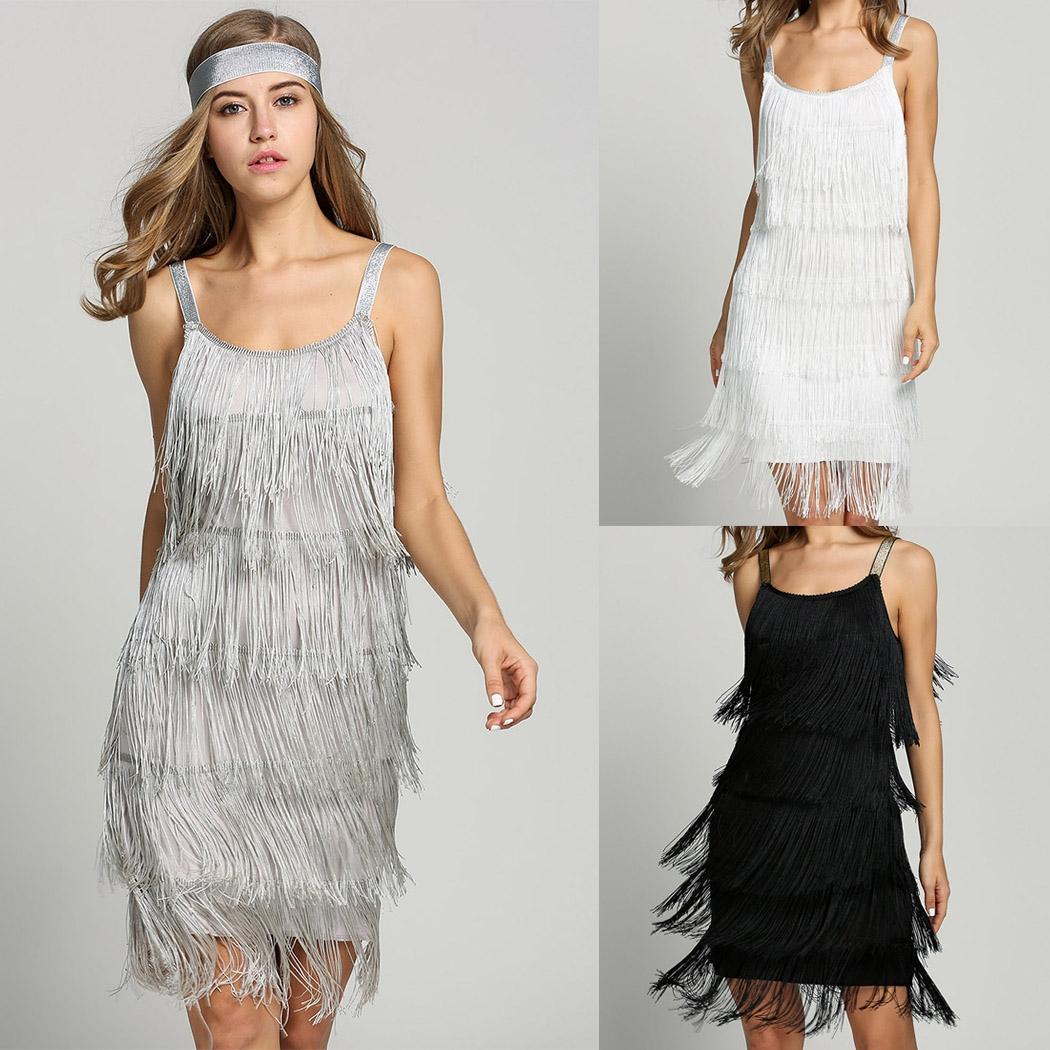 2017 Straps Sommer Gatsby Frauen Größe Kleidung Glam Frauen Kostüm ...