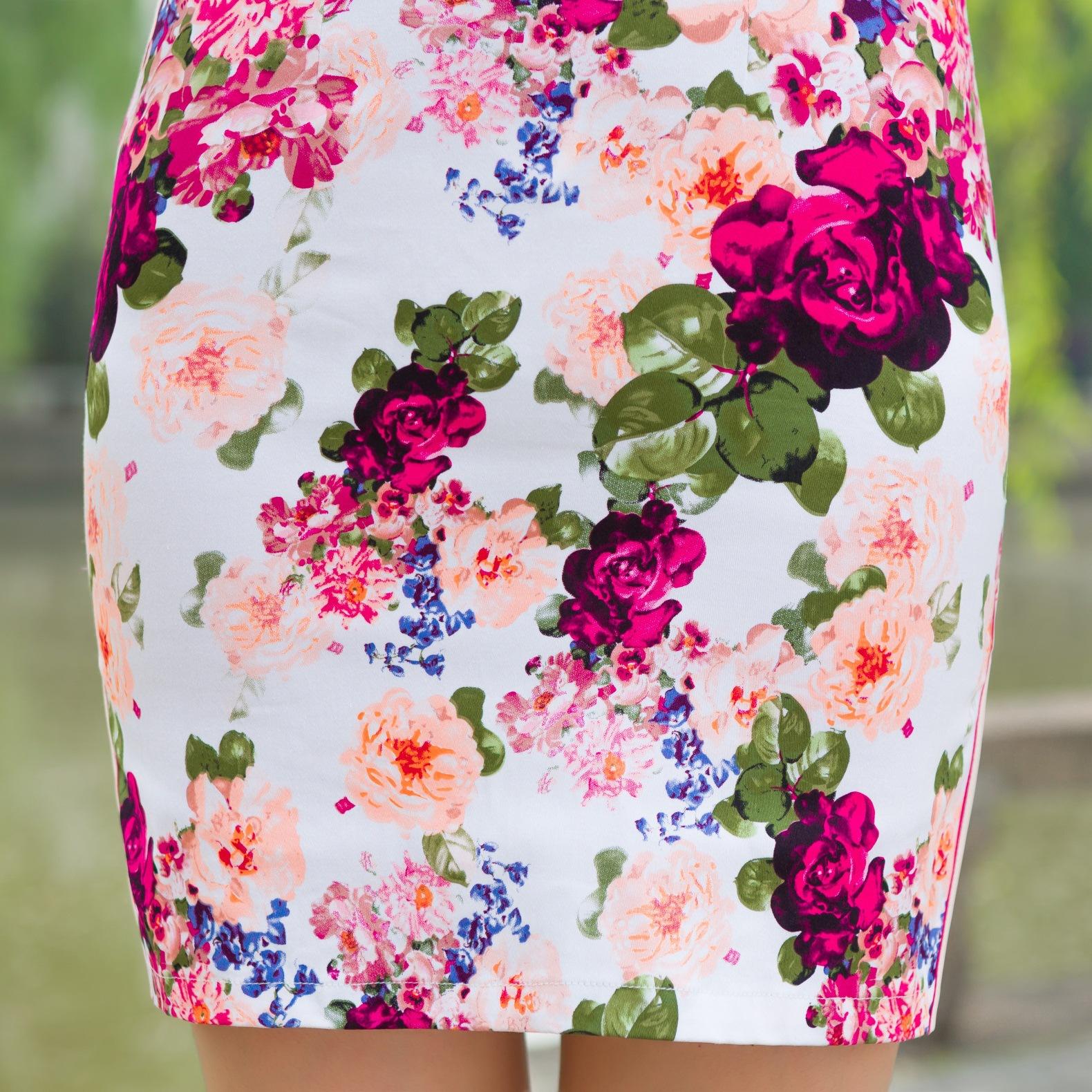 Fashion Woman Cheongsam Summer Short Sleeve Qipao Traditional Chinese Clothing