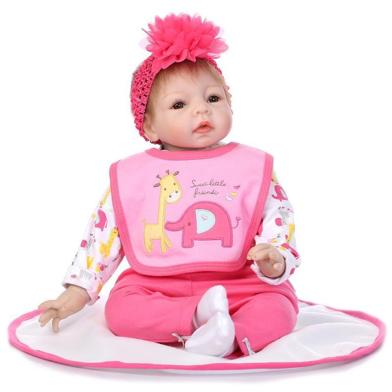 Nº22 дюймов <b>Reborn</b> Baby Doll 55 см мягкие силиконовые куклы ...