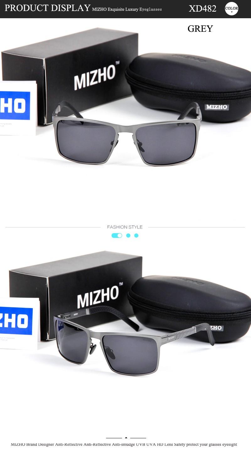 7a990b58d7b3d MIZHO Brand Anti-glare Hard Light Square Sunglass Man UV Protection ...