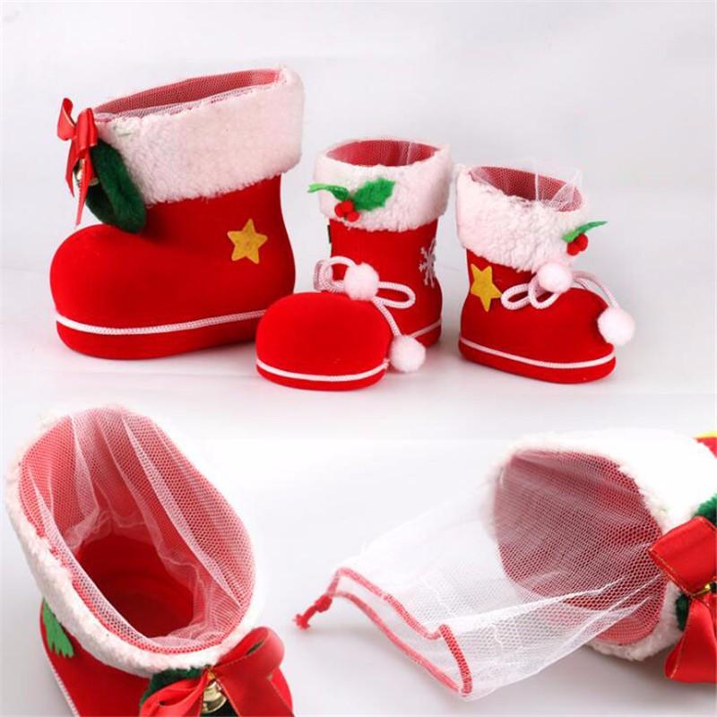 YFF Cadeaux de Noël Les Bottes D'hiver Court à Tête Ronde et Une cale en Caoutchouc Rouge,Bas,Confortable et Unique 52