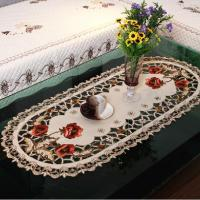 40*85cm Oval European Embroidery Table Cloth /Tablecloths