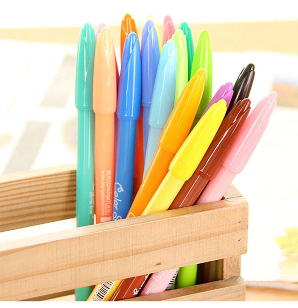 ჱ6 unids/lote 18 color acuarela graffiti plumas pintura escritura ...