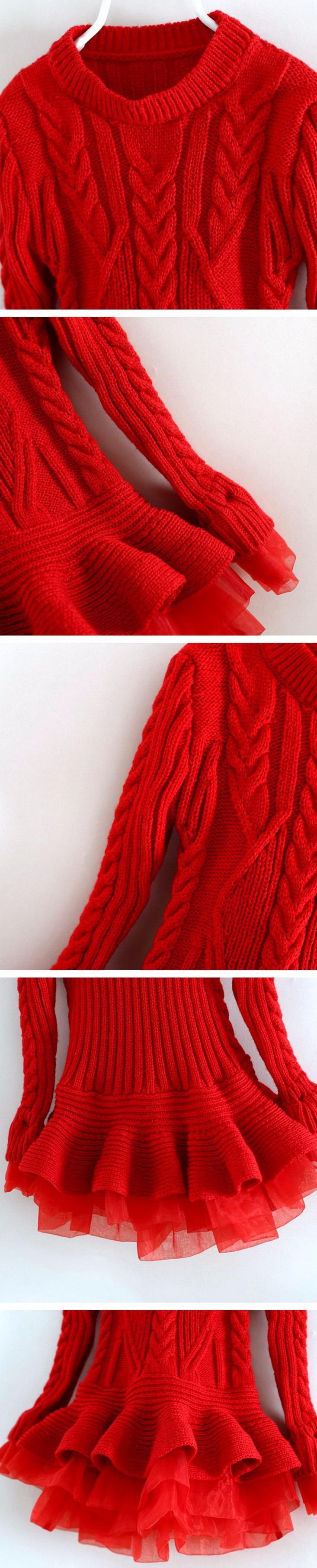 f13998afc 2016 New Baby Girls Christmas sweater Dress Costume children warm ...