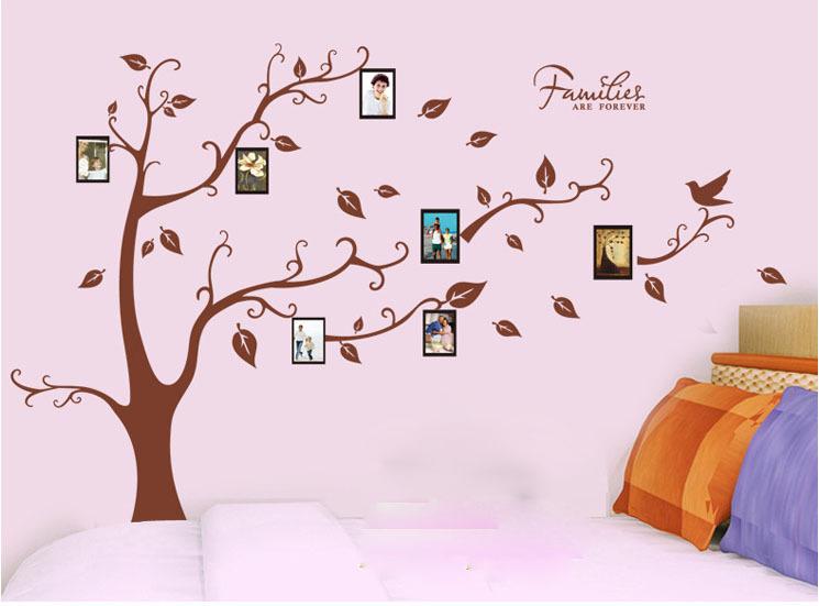 ᗐMemorey árbol cuadro decor Wall Art Mural sticker Home Decor Wall ...