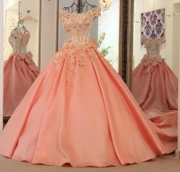 Popular Peach Colored Gowns-Buy Cheap Peach Colored Gowns ...
