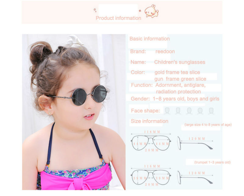21449a0806 2016 New Fashion Children Sunglasses Boys Girls Kids Baby Child Sun Glasses  Goggles UV400 mirror glasses Wholesale Price 2002