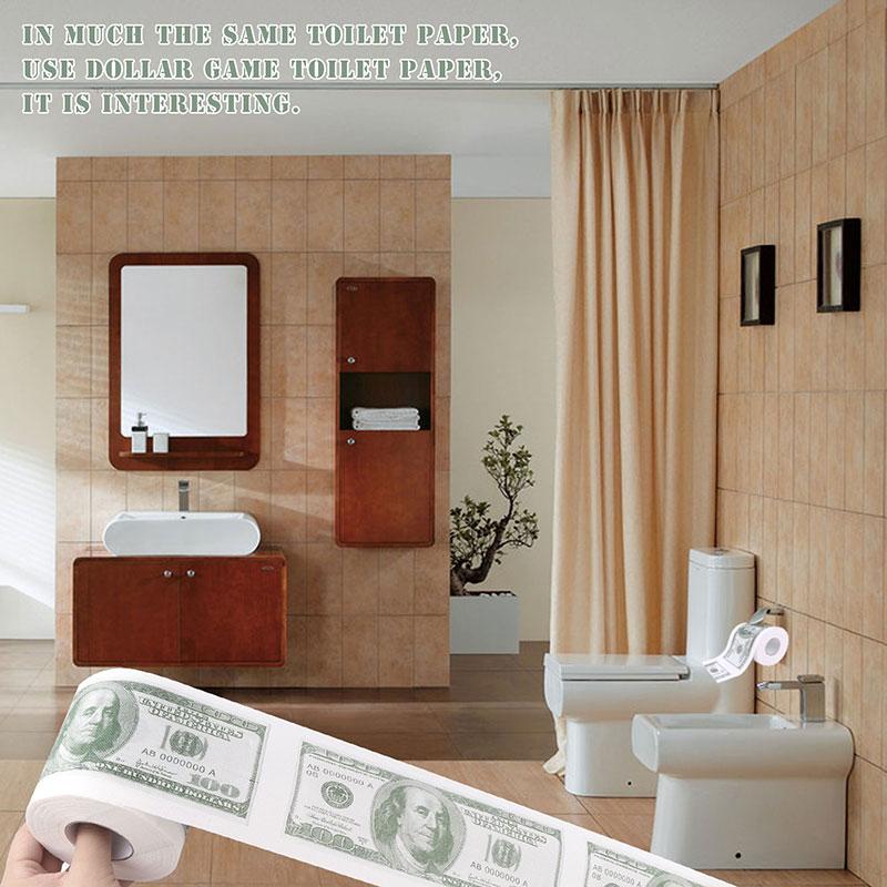 ①US Money Soft Toilet Paper Towel Bath Tissue Roll Bathroom Money ...