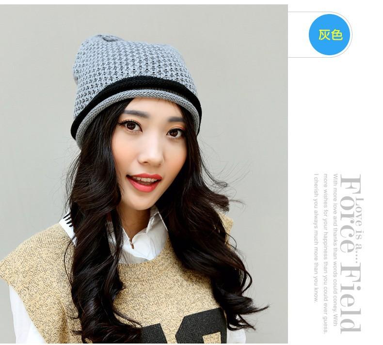 ᗑDoble súper cálido acogedor moda transpirable casquillo hembra ...