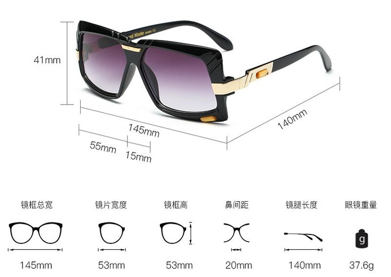 32043cb1e84 ᗑ Pop Idade Quadrado Moda de Luxo óculos de Sol Das Mulheres ...