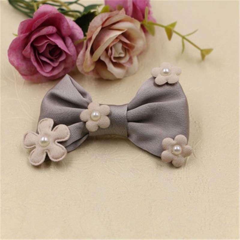 ▻Perle Kern Frühjahr Blumen Verziert Silk Chiffon Knoten Bögen ...