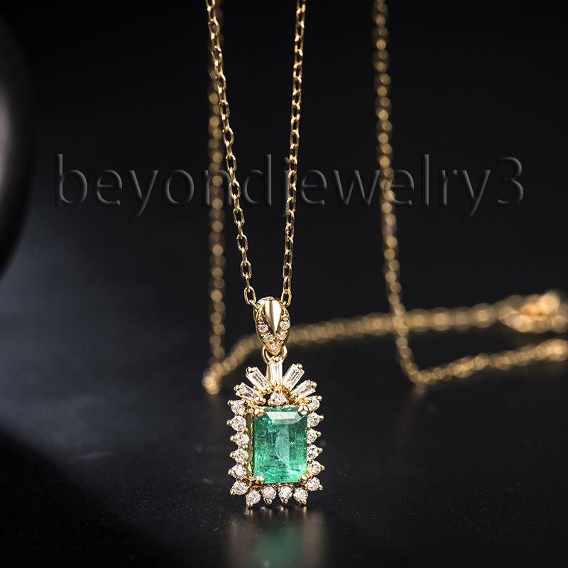 817614c67040 Tipo del metal  18Kt Sólido Oro Amarillo Peso del oro (gramos)  1.37g  estilo  anillo De Diamante Esmeralda Colgante sin cadena