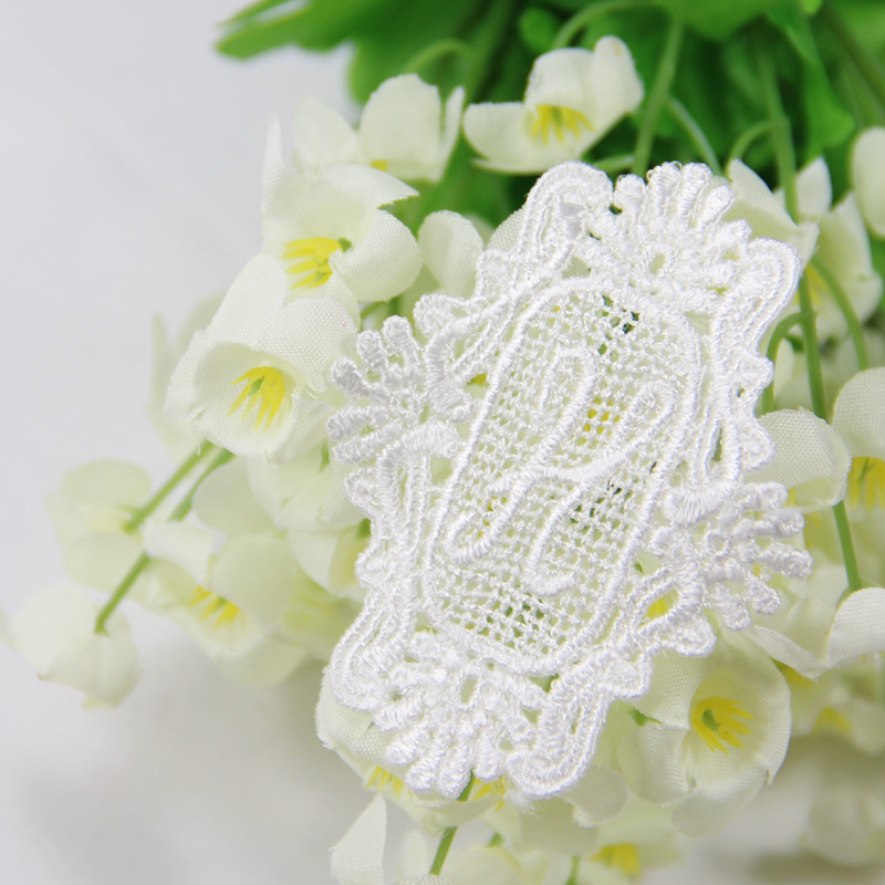 2a166bed7fc596 20 pcs lot High Quality Handmade DIY Garment Decoration Embroideried Letter  H Lace Applique Patch