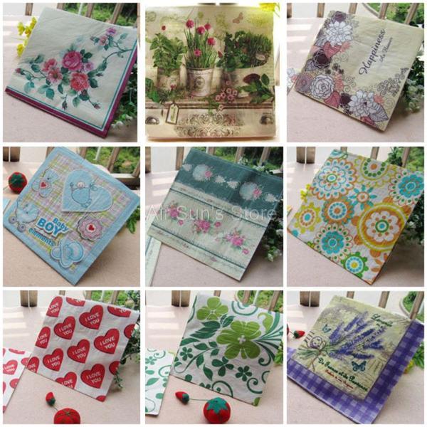 1 Pack 20 Pcs Vintage Color Paper Napkin Party 100 Virgin