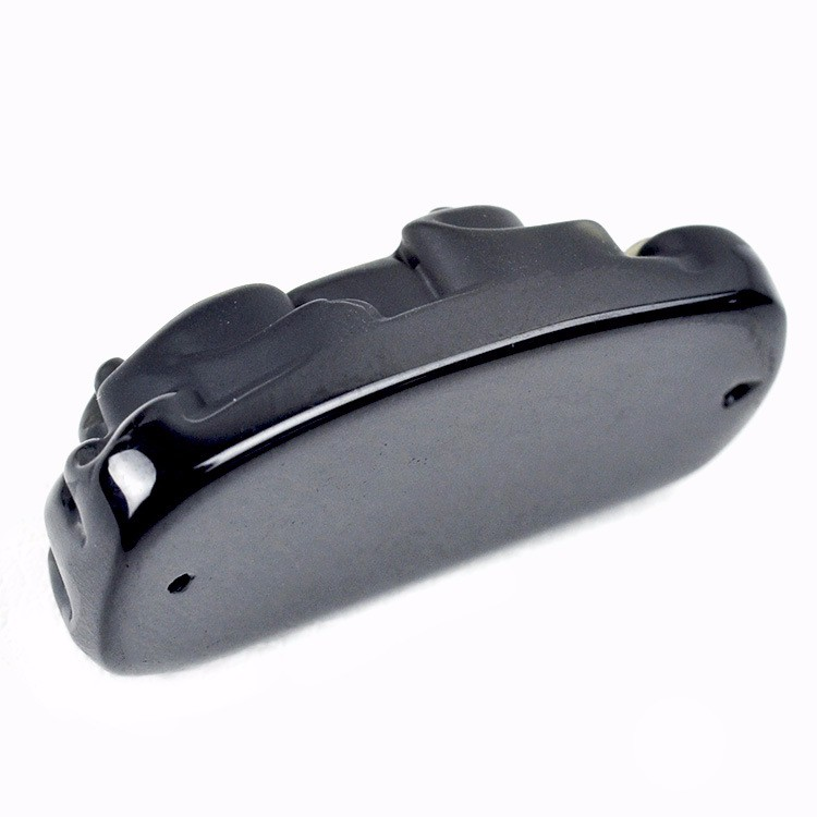 a15e2e1df7ae ✓Natural obsidian stone 3.8x1.8mm Pixiu beaded pendant
