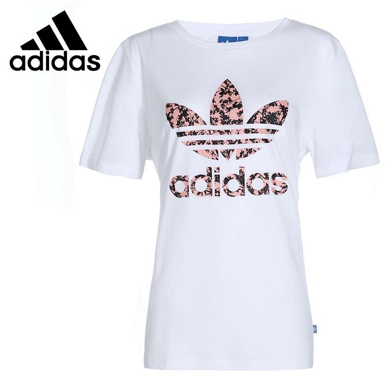 original new arrival adidas originals bf trefoil tee womens t shirts short sleeve sportswear